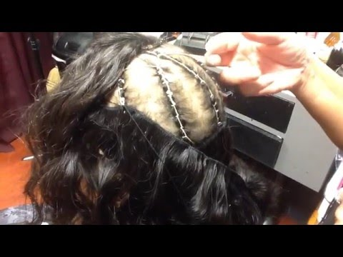 how to put weave and closure in baby thin hair youtube