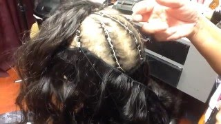 How to put weave and closure in baby thin hair