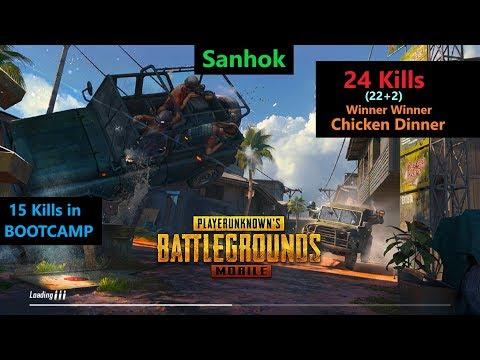 [Hindi] PUBG Mobile   '15 Kills' In Bootcamp & 22 Kills In Sanhok#Chicken Dinner