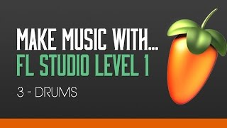 FL Studio 11 Beginners Level 1 Tutorial 3 - Creating a Drum Beat
