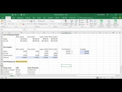 August 2017 Webinar: What-If-Analysis (Goal Seek, Scenario Manager, Data Table) and Solver in Excel