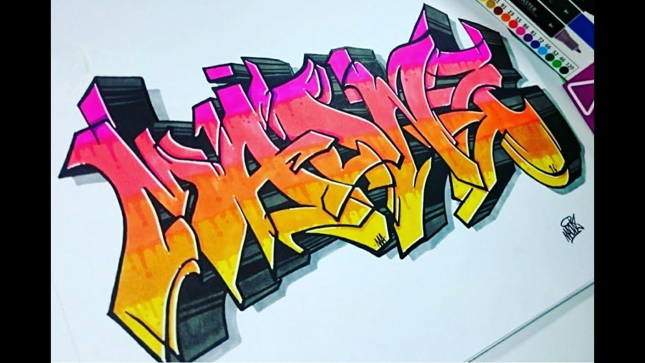 Dibujando letras de graffiti en papel speedart youtube - Papel para dibujar ...