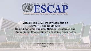 Virtual High-level Policy Dialogue On  Covid-19 And South Asia