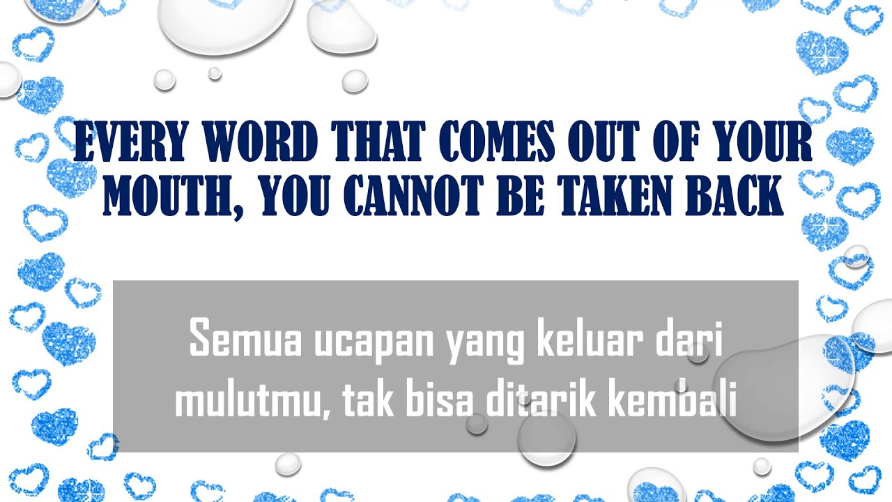 Wise Words English And Indonesian Kata Mutiara Bahasa Inggris Dan Bahasa Indonesia