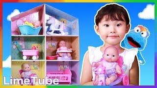 자장자장~라임이의 아기돌보기 베렝구어 인형의집 장난감 놀이 LimeTube & Toy 라임튜브