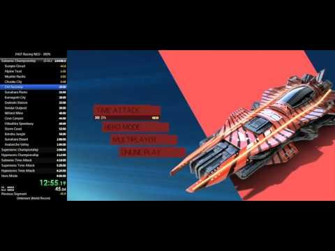FAST Racing Neo 300% Full Game Speedrun 4:50:02