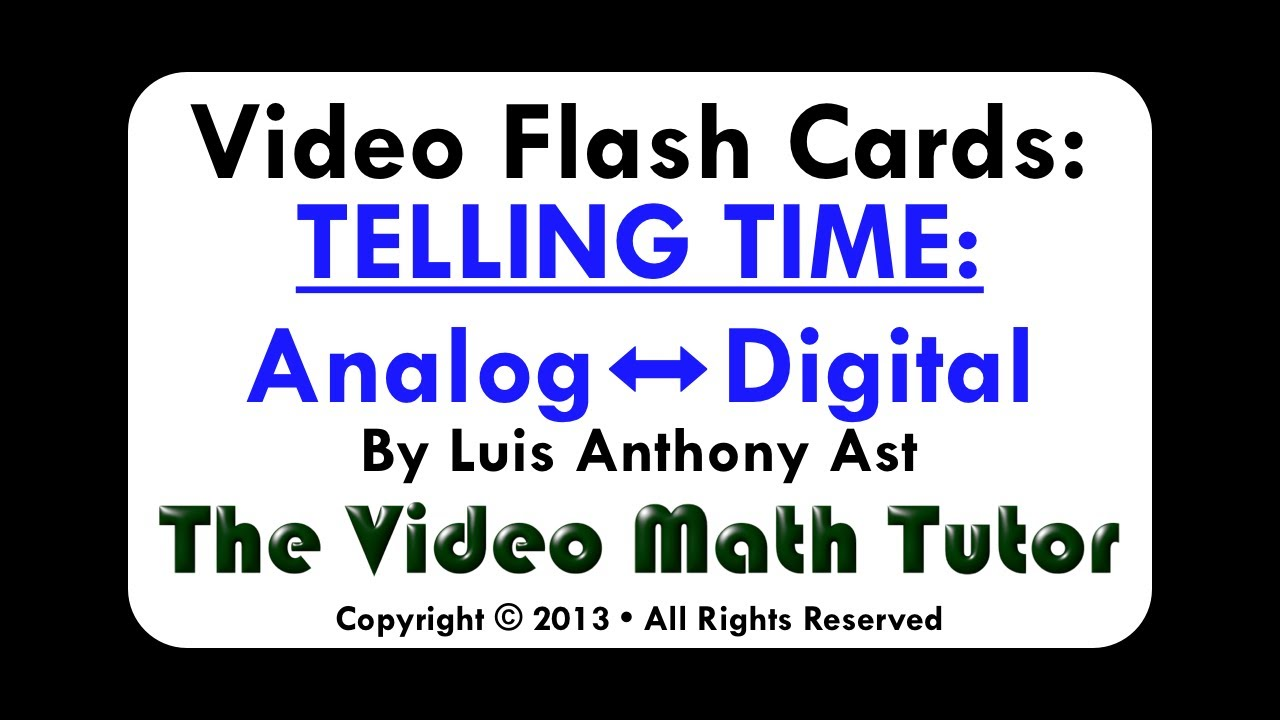worksheet Telling Time Flash Cards video flash cards telling time analog digital youtube digital