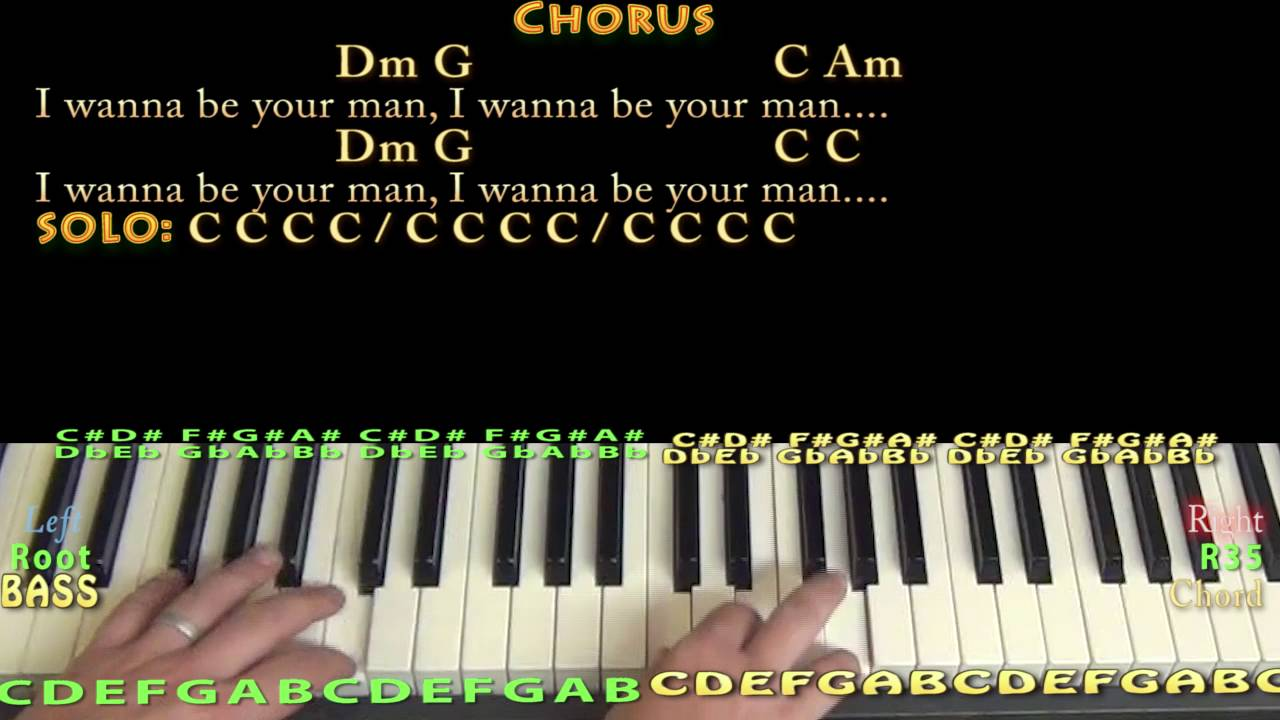 I wanna be your man beatles piano cover lesson in c with chords i wanna be your man beatles piano cover lesson in c with chordslyrics hexwebz Images
