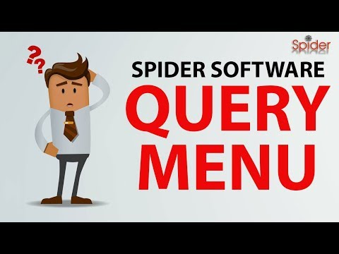 How to use Spider Software Iris Plus : Query Menu | Hindi | Tutorial thumbnail