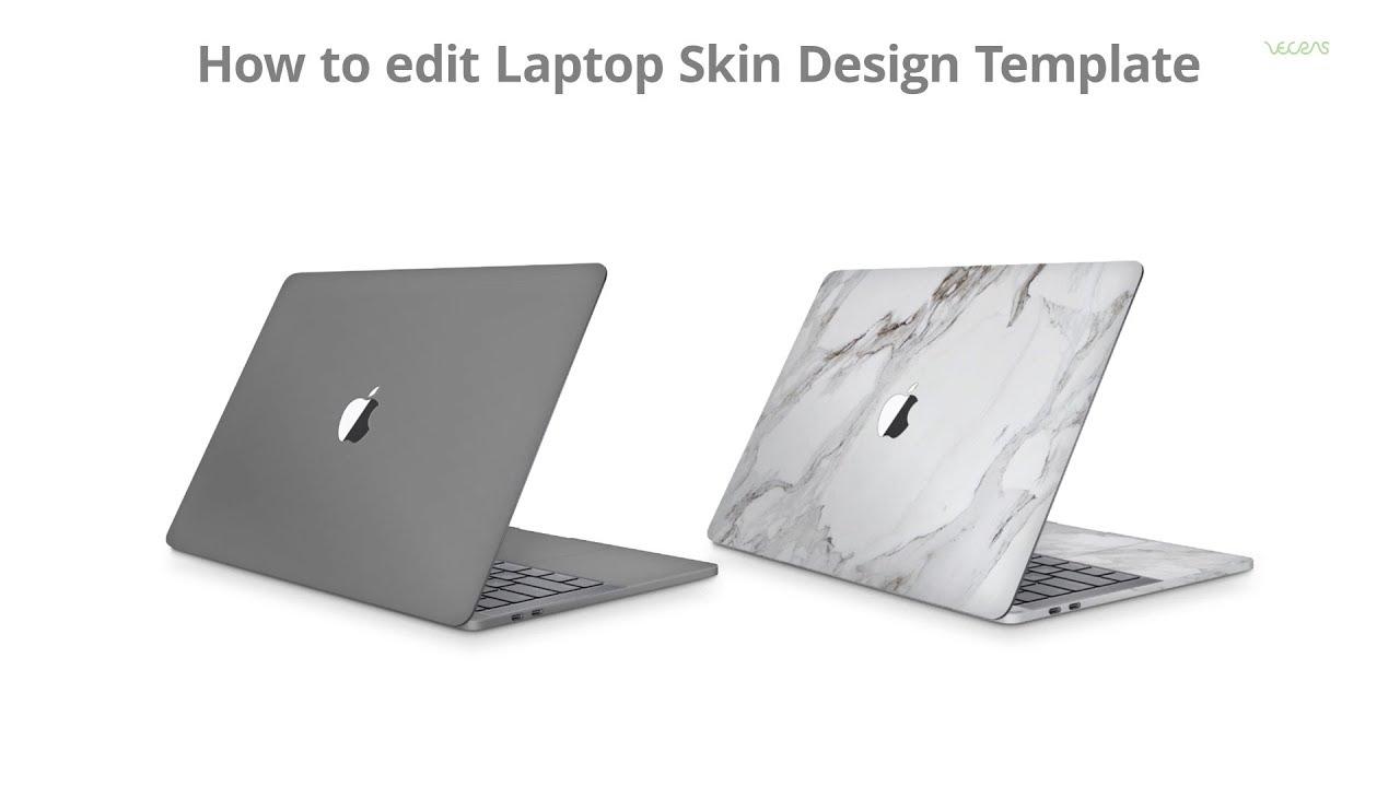 How to edit Laptop Vinyl Skin Design Template   VecRas - YouTube