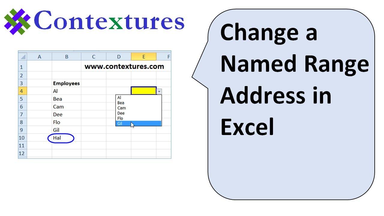 Change Address of Excel Named Range – Contextures Blog