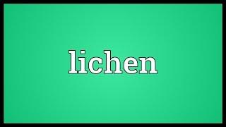 Lichen Meaning