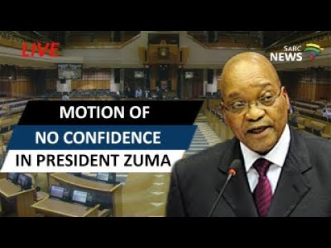 Motion of no confidence in President Zuma - YouTube