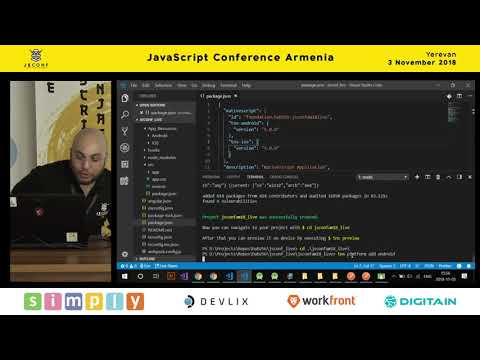 Simple Mobile App Using NativeScript Angular By Gor Rustamyan (Arm)   JS Conf Armenia 2018