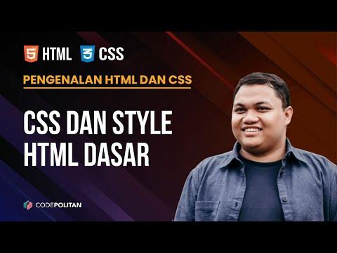 03 - CSS Dan Style HTML Dasar