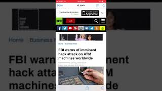 WARNING!! FBI WARNS OF IMMINENT HACK ATTACK ON ATM MACHINES WORLDWIDE!