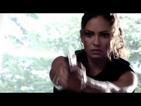 Sandra Luesse shoots Vega in the film