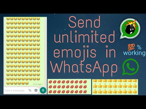 How to send unlimited Emojis and Text in WhatsApp | 100% working trick |WhatsApp Bomb ( WUB )