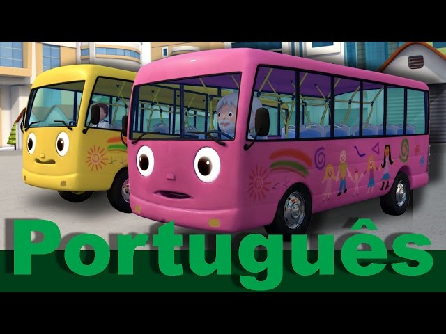 As rodas do ônibus | Versão 8 | Canções infantis | LittleBabyBum