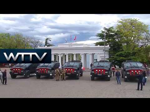 Putin's cutting-edge Batmobiles drive to Crimea for FSB exercises