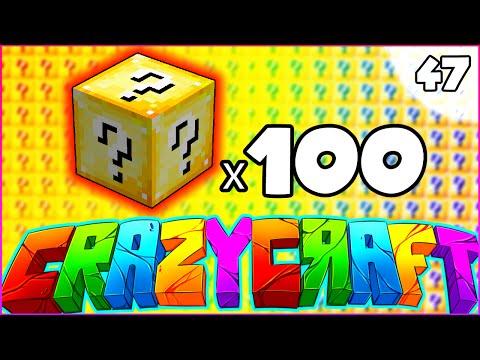 "Minecraft CRAZY CRAFT 3.0 SMP - ""100 LUCKY BLOCK OPENING"" - Episode 46"