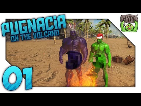 BIG BLUE & LITTLE GREEN  MODDED ARK: PUGNACIA ON THE VOLCANO  EP 01