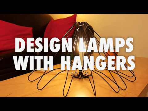 DIY Crafts - How to make 3 awesome lamps with hangers