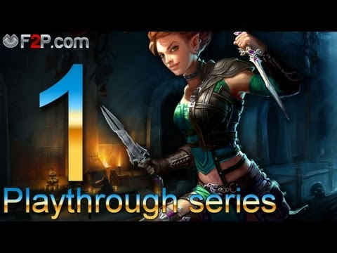 Neverwinter MMO gameplay walkthrough Episode #1 (1080p) – Rogue (Level 1-3)