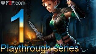 Neverwinter MMO gameplay walkthrough Episode #1 (1080p) - Rogue (Level 1-3)