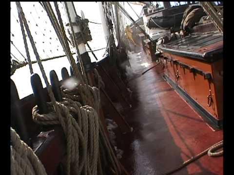 Dutch schooner OOSTERSCHELDE, sailing from New Zealand to Cape Horn in 1997