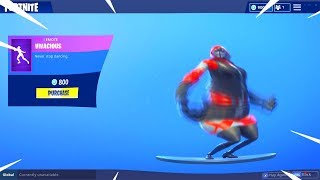 NEW FORTNITE VIVACIOUS DANCE EMOTE BASS BOOSTED!!
