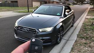 Audi S3 2015 cabrio APR Stage 2 , 0-100, Exhaust Pops, Review 300kw 560TQ