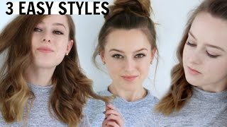 3 EASY HAIRSTYLES FOR MEDIUM LENGTH HAIR | Grace Bruce
