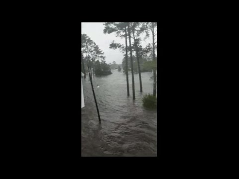 Scary situation as couple forced to deal with severe flooding in Belhaven, NC