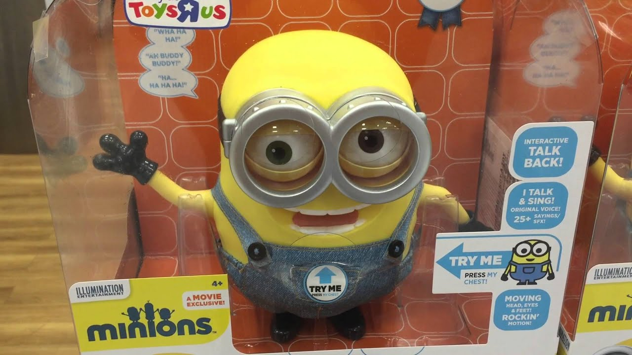 Quick Video Of The Talking Minion Exclusive At Toys R Us