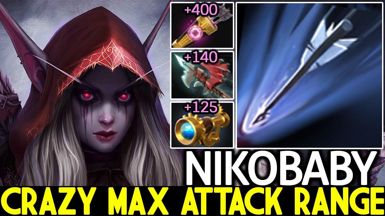 NIKOBABY [Drow Ranger] Crazy Max Attack Range Arrows Free Hit Dota 2 thumbnail