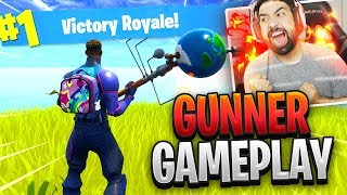 "NEW Fortnite ""BRIGHT GUNNER"" Skin Gameplay (New Bright Bag)"