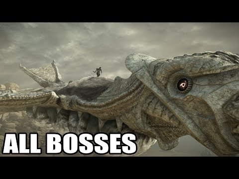 Shadow of the Colossus PS4  - All Bosses (With Cutscenes) HD