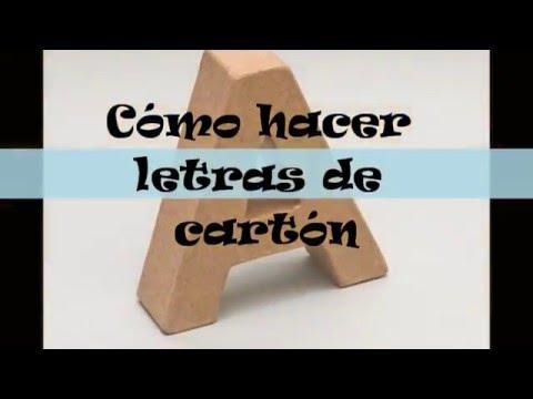 Videotutorial letras de cartón en tres dimensiones, por Daniel Pérez