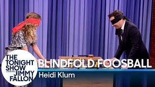 Blindfold Foosball with Heidi Klum