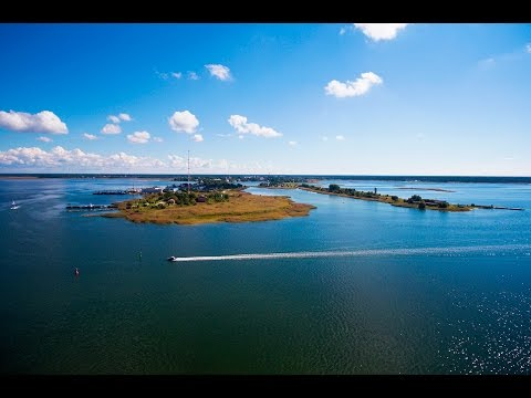 Seaside drone footage in Haapsalu, Estonia from the old railway station to the promenade