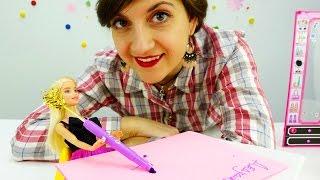 Видео про куклы и игры для девочек: Помоги #Барби написать письмо деду морозу.  Новый год мультики