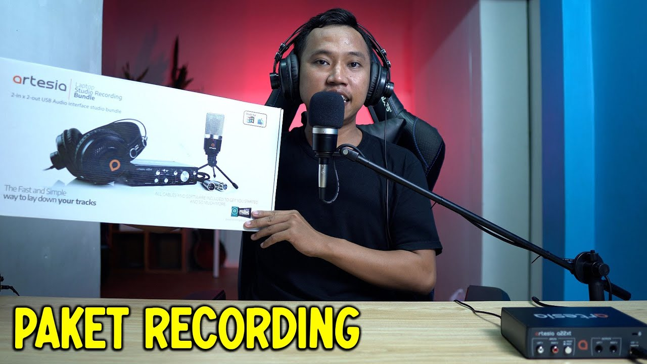 Download Paket Rekaman : Mic Condenser Audio Interface Headset Stand Komplit Siap Home Recording ~ Artesia