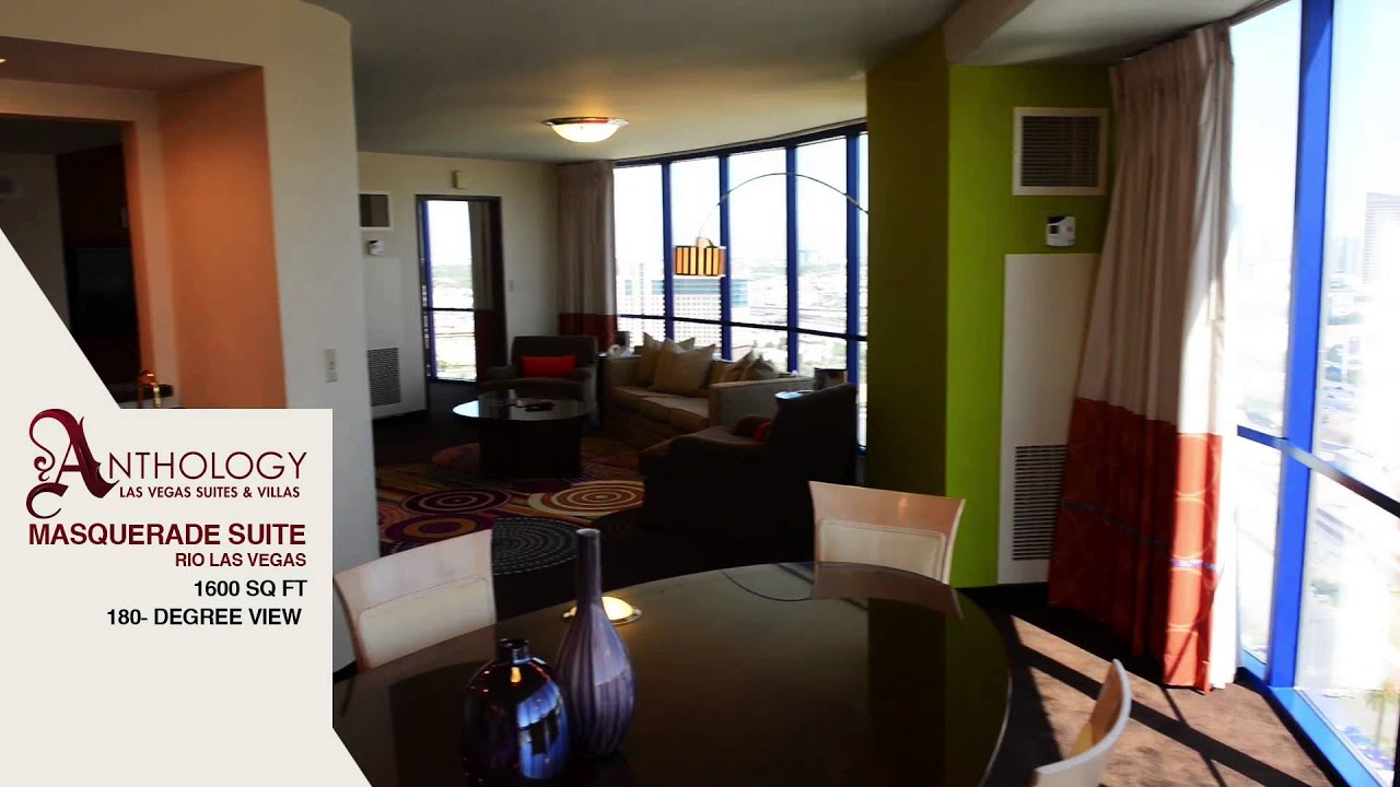 Las Vegas Suites 1 Bedroom Masquerade Suite Rio All Suite Hotel Casino Las Vegas Youtube