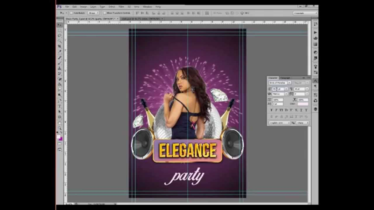 How to create Club Flyer in Adobe photoshop. Tutorial from ...