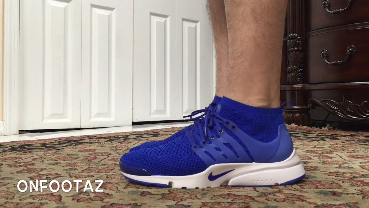 pretty nice 8561c 257e1 Nike Air Presto Ultra Flyknit Blue On Foot