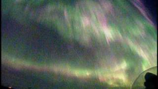 2010/04/05 10年に一度のオーロラ大爆発(実速度) great Northern Lights,Break Up (Live!Aurora ) real time speed
