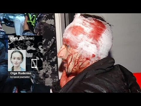 Ukraine government using thug force against media covering protests