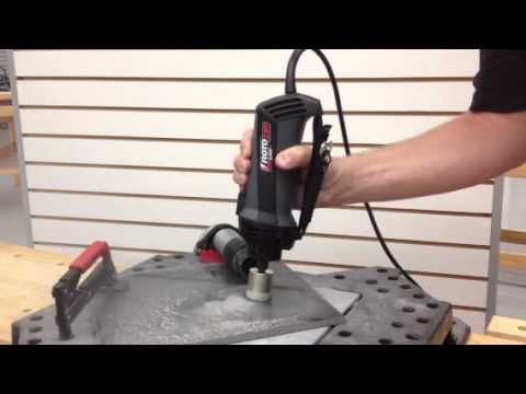 Cutting A Hole In Granite Tile With The Rotozip Rotosaw