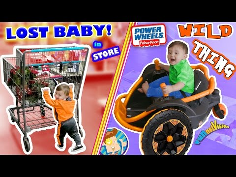 WE LOST OUR BABY while CHRISTMAS SHOPPING! Tickle Torture + POWER WHEELS Wild Thing (FUNnel Vision)